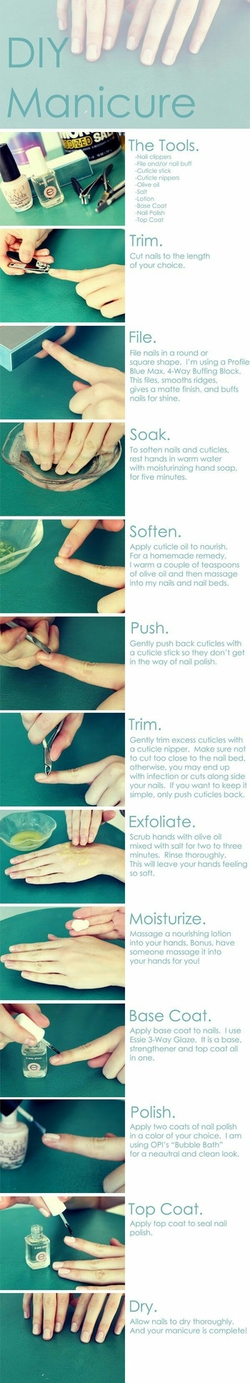 Easy home manicure trick 💅