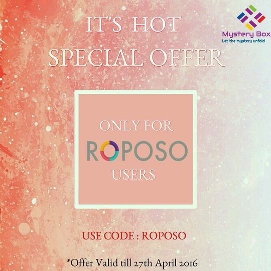 """Special offer only for ROPOSO users  On the """"IT'S Hot"""" edition of Mystery box  worth 2800/- only for 1499/-  Click on the link below"""