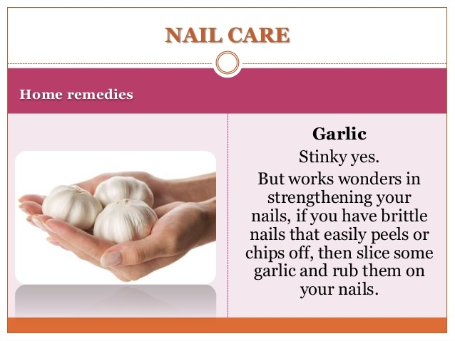 Nail Care - Garlic helps to strengthen your nail. Slice it and rub it on your nails.  #nailpaint #nailcolor #nailswag #nailsoftheday #garlic #strong #lovenails #longnails #roposotalks #roposotimes #roposolovers #roposobeauty #nailday