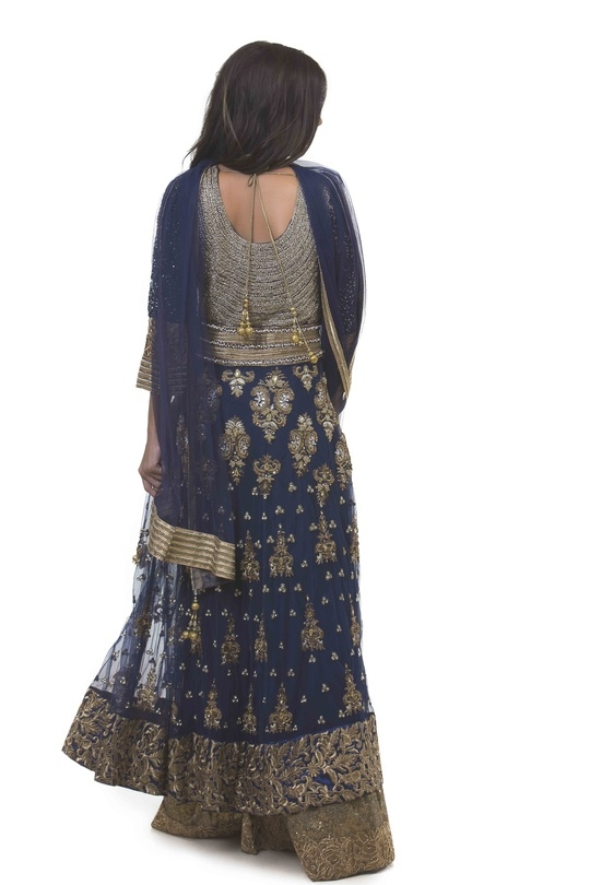 Navy Blue Ornate Anarkali