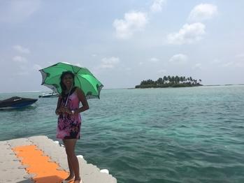 #summerdress #umbrella #coral #lakshadweep #lakshadweep #islandlife #island