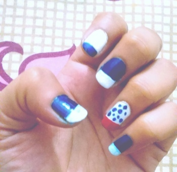 New nail art by me...