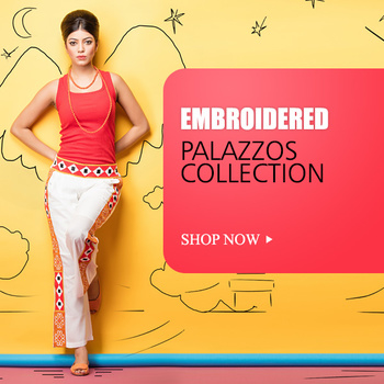 Shop for Exclusive Embroidered Palazzo Paint collection and look elegant like never before.
