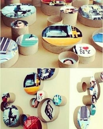 DIY photo stamps