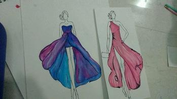 #my illustration # croqui love # fashion design #