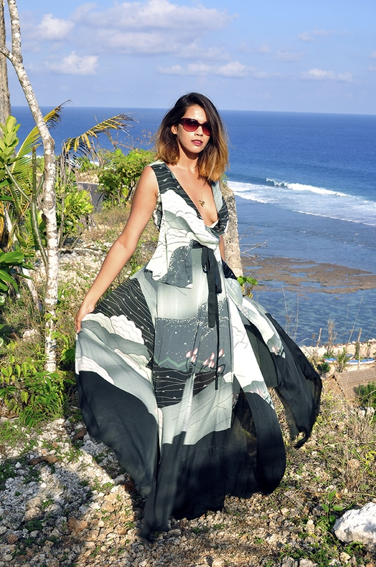 Melasti Beach - Bali in AM:PM dress | Akanksha Redhu