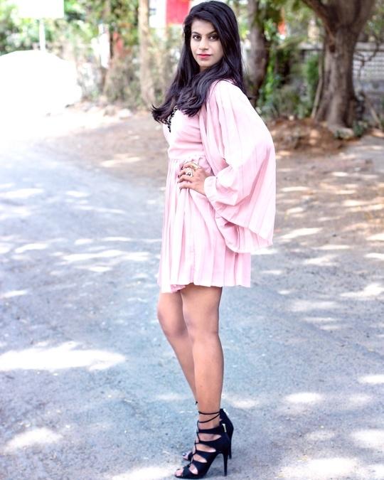 Dress - BOOHOO Heels  - Forever 21 #labelbazaarxroposo #OOTD #ootd #ootn #roposostylefiles #roposogal #roposocontest #soroposo #skaterdress #pleated #boho #pink #black #runwayrising @runwayrising #LabelBazaarXRoposo #ContestAlert #SaniaMirza #AnamMirza #LabelBazaar #hyderabad #Celebrity #Contest #Win #Fashion #Styling #Labels #Brands #SoRoposo #Roposo  #contests