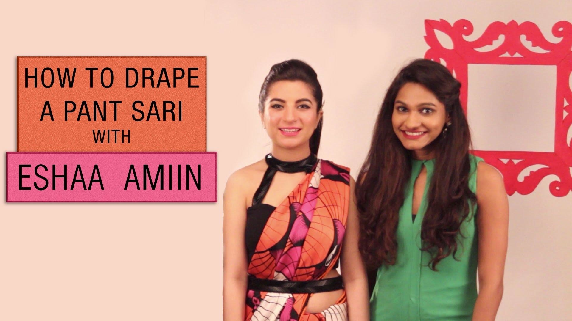 #CelebrityStylist @eshaamiin shows us how to drape a fuss free pant sari just perfect for your next desi occasion! Watch Now! ▶️