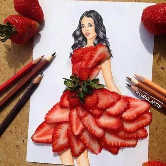 strawberry skirt 😍👗🍓
