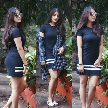 T - shirt dress #fashionbloggers #RoposoTalentHunt
