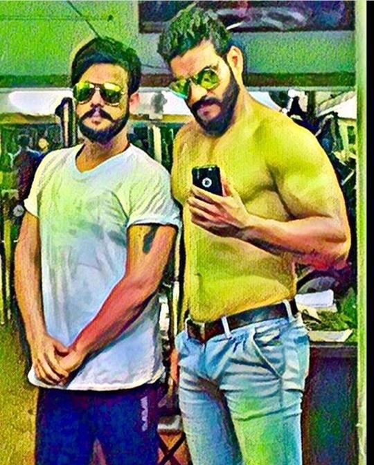 #gym #workout #brothers #stayfitandhealthy #beardedmen