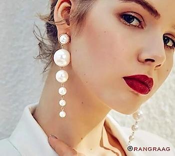 Pearl drop earrings! #earrings #fashion #womenwear #accessorieslove #pearls #western #stylishgirl