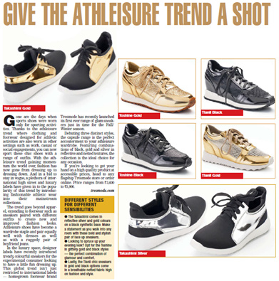 You know that the Athleisure trend is taking B-town by storm when it makes it to Bombay Times! Here is your chance to get in on the trend: http://bit.ly/GoldSneakersTresmode #news #BombayTimes #fashion #shoes #athleisure #style #newstyle #Tresmode