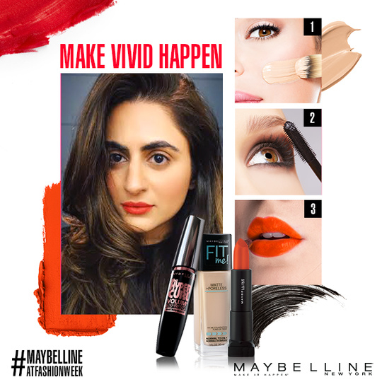 We decoded #MaybellineITGirl Shereen Sikka's party look and the verdict is VIVID!  Tell us below what your Maybelline party look essentials are. Stay tuned for more updates. #NYFW #MaybellineAtFashionWeek