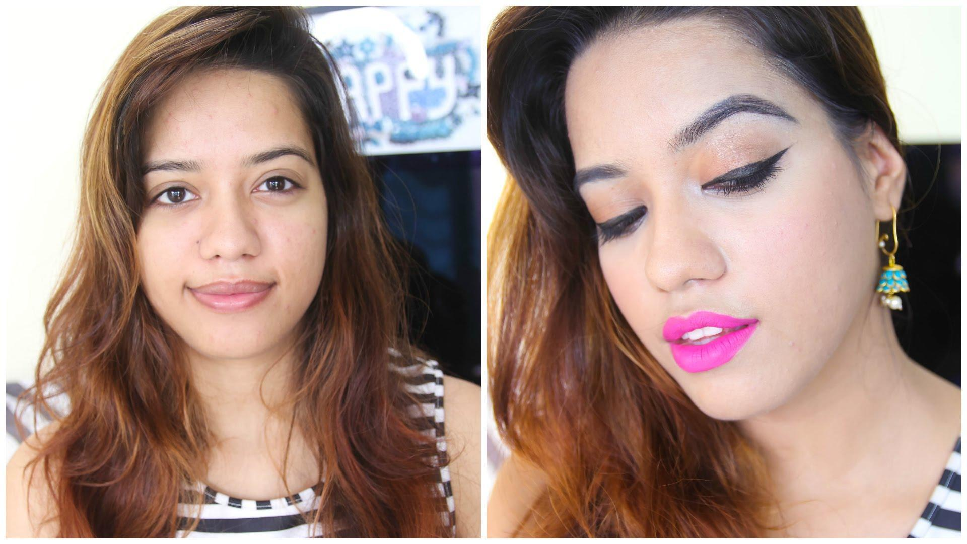 Full Face Using Products Under Rs 100 Challenge | Debasree Banerjee