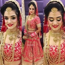 This pretty bride! ❤️ Bookings are now open! Contact us on 011-42767187 or 011-49058499 between 11am to 8pm to know all the details. 📞📱 Note: WE ONLY HAVE 1 SALON IN PITAMPURA. No other branch anywhere. Instagram: KritiDS