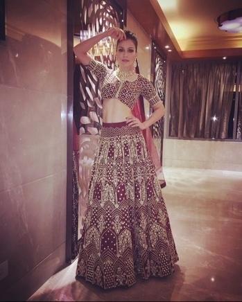 Wearing this bridal showstopper piece by #anjkouture at #punefashionweek..  #Bridal #weddings #mirrorwork #showstopper