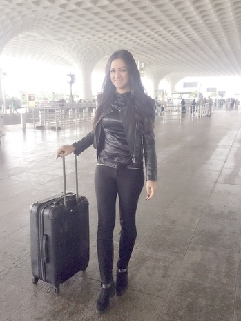 Off to Indore :) #black #boots #jacket