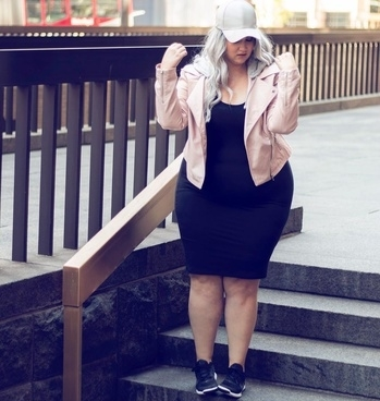 Curvy Girls for the win!  #curvy #fashion #style #forever21 #f21 #f21xme #hairaccessories #jewelery #accessories #blackonblack #black #sneakers #hat #cap #leather #jacket #latherjacket #trends #trending #styling #pink #white #plussize #howtowear #whattowear #rippedjeans #boots #leatherpants #stilletos #denims #belts #fashionaccessories #roposofashion #roposopost #armyprint #camoflouge #militaryprint #heels #laceups #dressup #choker #bomberjacket