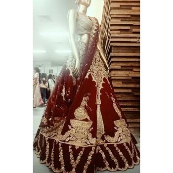 The traditional red&gold bridal lehnga #bridal #redgoldenlehanga