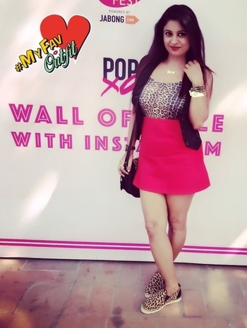 At #popxobff #whatiwore #ootd #reneethereborn #delhiblogger #indianblogger #fashionblogger #roposoblogger #roposogirl #roposolove #delhi #event #soroposo #soroposofashion #myroposo  outfit details - Leopard print camisole and red skirt -#zara Sneakers & sling bag -#ninewest Custom necklace -#pipabella Bracelet -#swarovski  #myfavoutfit #fashionbloggers