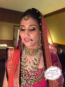 Bridal Makeup! Traditional look. Makeup and hair. #wedmealready #weddingseason #makeuplove #indianbride #indianbridalmakeup #urbandecay #lauramercier #bennye #urbandecay #mac #bobbibrown   #wedmealready