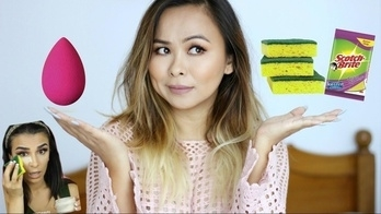 BEAUTY HACK : Applying Makeup With a DISH SPONGE! Beauty Blender Dupe?!  Trying out this Instagram beauty hack of getting a flawless base makeup using a dish washing sponge! Could this be the new beauty blender?!  #beautyhacks #indianblogger #indianyoutuber #makeup