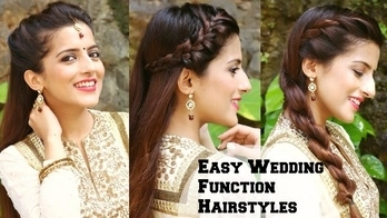 3 QUICK & EASY Hairstyles For Indian Wedding Occasions  / Indian Party Heatless Hairstyles No teasing, no back combing no heat  ❤️ #wedmealready #wedmevlogger  #roposolook #roposolove #soroposolove #soroposo #diy #hair #hairdo #hairstyletips #hairstyleoftheday #haircolour #easytodo #easyhairstyle #quickhairstyles #updo #bun #knotmepretty #hairaccessories  #hairstyle