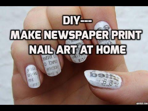 Finally found out this---newspaper print nail art Tutorial \  #nailart#nailartdesigns#nailartwow#nailartaddicts#nailartpromote#nailartblogger#nailartlove#nailartideas#nailartonmymind#nailartjunkie#nailartobsession#nailartindia#nailarttutorial#nailartclub#nailartist