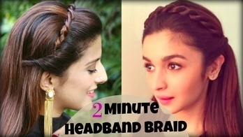 CUTE & EASY 2 Min Everyday Headband Braid For School, College, Work | Alia Bhatt/ Indian Hairstyles New video alert 💕  #wedmealready #wedmevlogger  #roposolook #roposolove #soroposolove #soroposo #diy #hair #hairdo #hairstyletips #hairstyleoftheday #haircolour #easytodo #easyhairstyle #quickhairstyles #updo #bun #knotmepretty #hairaccessories  #hairstyle