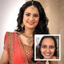 Before/after shots of beautiful Nikita for her engagement! Makeup by Parul Garg. Contact 9599588312 #parulgargmakeup #makeupartist #makeup