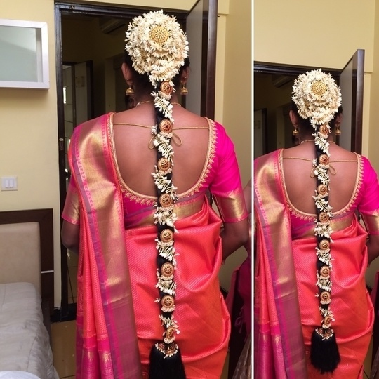 South Indian Bridal braid #hairstylist #hairdo #bridal #bridalhairstyle #bridalhair #bridalhairdo #hairandmakeup #southindian #hairbynikkineeladri