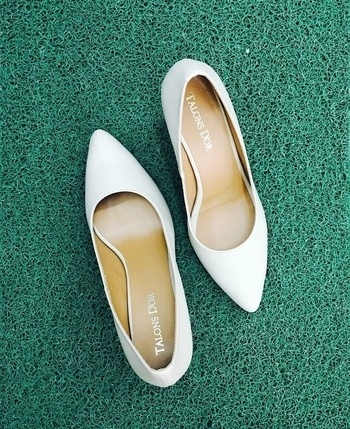 White will never go out of style.   Design your heels at talonsdor.com #designyourheels #ownyourstyle #talonsdor