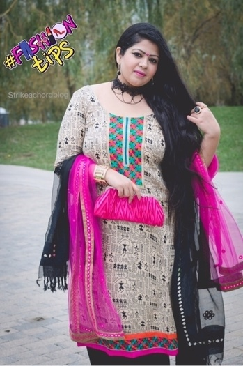 Don a double dupatta with your salwar suit because why not ? Wear a dupatta in a jewel tone along with your normally paired dupatta and take the glamour quotient up! Turn heads wherever you go💖   For more pictures on this look, head over to my blog : www.strikeachordblog.wordpress.com    #ethnic #traditional #fashion #indianglam #indocanadianblogger #jeweltones #doubledupatta #ranipink #fashionblogger #certifiedmakeupartist #torontomua #torontoblogger #indianchic #choker #cluctch #cuff #bindiya #prints #patchworks #knuckledusters #fashionmoments #fashiontips #trendreport #longhairdays #lifestyle #travel #momyfashion #strikeachordblog #fashiontips