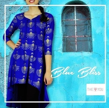 Today's deal !  Not to miss Thursday blues on the way !  This amazing high low blue kurta for just Rs 1199/- . . . Click shop love now  Follow us on roposo/@theyou for more style updates. . . #roposolive #roposo #kalamkari #like4follow #likeforlike #instapic #instalike #instagood #like4follow #follow4follow #followforlikesback #dealoftheday #designerwear #theyou #theyousquad #theyou_family #thebeautifulyou #foreverlove #shoptillyoudrop #onlineshopping #kurta #blues #ootd #potd📷