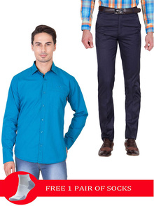 Super Saving Combo at Just @799/- 1 Men's Trouser +1 Men's Shirt + 1 Free Socks @ 799/- Only Limited Period Offer With Free Shipping all over India. #Cliths #AmericanElm #RealCotton #FullYourWardrobe visit us: http://bit.ly/2hACc70