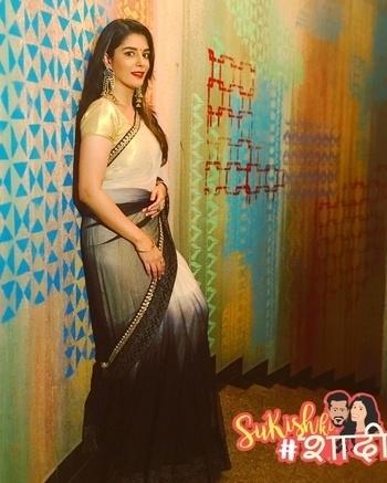 Can't get more indian thn a saree #sukishkishaadi #sangeet #SuKishKiShaadi