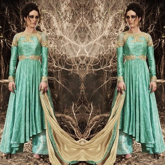 Sea Green / Blue Bhagalpuri Silk Palazzo Suit Product code - FCSS549 Available at www.fashionclozet.com  Watsapp - +91 9930777376 Email -  info@fashionclozet.com Or DM for enquiries. #indianwear #indianfashion #indianwedding #instagram #lehengasaree #beautiful #bollywood #priyankachopra #mumbai #indianstyle #desi #punjabisuits #delhi #bridalsarees #designersaree #designerwear #saree #punjabiweddings  #patialasuit #blogger #fashionblogger #weddingphotography #patiala #weddingphotographer #patialasalwar #bridallehenga #bridesmaids  #indowestern #capedress