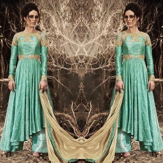 Sea Green / Blue Bhagalpuri Silk Palazzo Suit Product code - FCSS549 Available at www.fashionclozet.com  Watsapp - +91 9930777376 Email -  info@fashionclozet.com Or DM for enquiries. #indianwear #indianfashion #indianwedding #instagram #lehengasaree #beautiful #bollywood #priyankachopra #mumbai #indianstyle #desi #punjabisuits #delhi #bridalsarees #designersaree #designerwear #saree #punjabiweddings  #patialasuit #blogger #fashionblogger #weddingphotography #patiala #weddingphotographer #patialasalwar #bridallehenga #bridesmaids  #indowestern #capedress