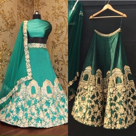 Green Dori Work Tafetta Silk Lehenga Choli Product code - FCRL0047  Available at www.fashionclozet.com  Watsapp - +91 9930777376 Email -  fashioncloset06@gmail.com Or DM for enquiries.  #sari  #indiandesigner #indiansuits #indianbrides #manishmalhotra #saree #indianclothes  #bridalwear  #sikhweddings #eidspecial #indiancouture #eid  #newyork  #lenghacholi #sikhwedding #anarkalis #taruntahiliani #gottapatti  #pakistanifashion #shyamalbhumika #anandkaraj #fashiondesigner #eidspecial #style #styleblogger #styleoftheday #styleinspiration #styletips #stylefile #styledbyme