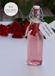 How to make your own rose water🌹🌹💝  And uses of rose water 🌹💝 What you need💝  Glass jar (wide-mouth, quart size) Rose petals, fresh or dried – 1/3 cup Witch hazel – 1/3 cup Distilled water – 2/3 cup 1. Place rose petals in a jar. You will need about 1 cup of rose petals, less if using dried roses. (This does not need to be exact.) 2. Mix water and witch hazel and pour over the rose petals. 3. Be sure the flowers are covered by an extra 2 inches of liquid. 4. Cover with lid and place in a warm area out of direct sunlight. 5. Leave to it for 2 weeks. 6. Strain out the flowers and pour rose water into a clean jar or bottle. Label. Store in a cool place.