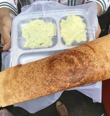 This sada dosa refuses to fit in the frame! #foodiesofindia #food