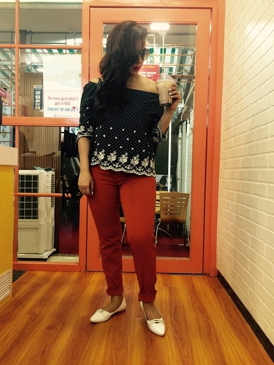Ready for the evening casual look. For style consult contact us- rosepuri.com