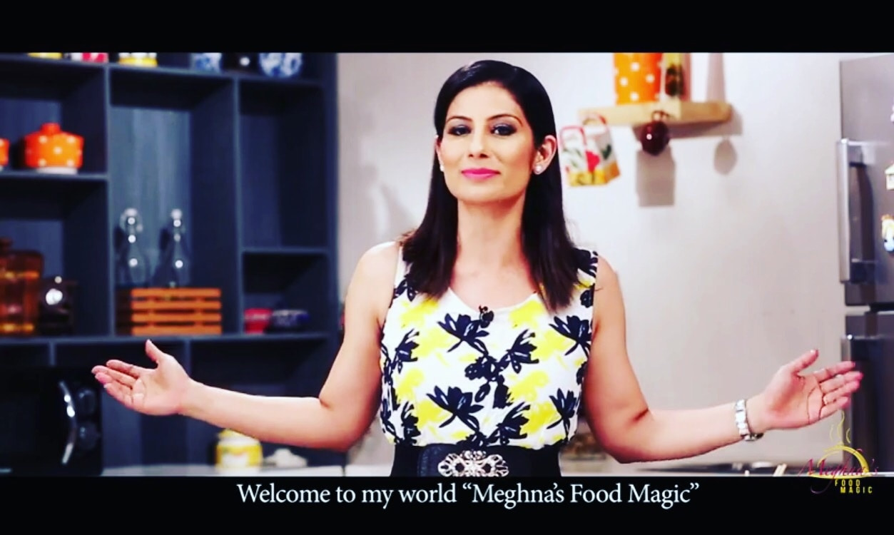 """This is my favorite line. """"Welcome to my world.. Meghna's Food Magic."""" 💋💋💋 Love M. #chefmeghna #lipcolour"""