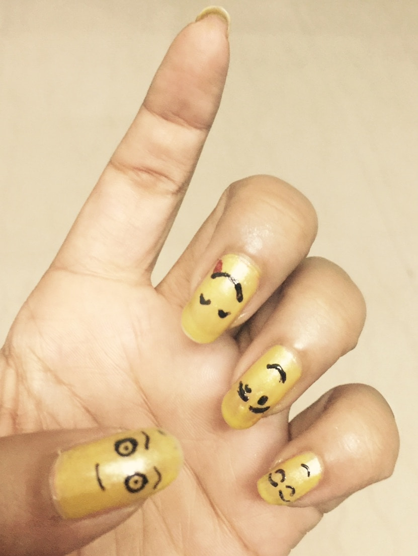 Smile all around 😍😍 #nailart