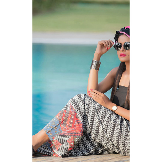 "#Crepe #PrintedPalazzo • Fabric : Crepe • Size : Free Size ( Suited to 28""- 46"" waist ) • Length : 38 Inches approx.  http://www.ishimaya.com/bottoms/palazzo/crepe/multicolor-printed-crepe-palazzo-pant.html?utm_source=roposo&utm_medium=refferal&utm_campaign=smo"