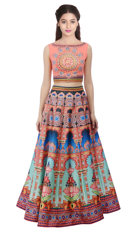 """New Multicolored Digital Printed Lehenga Choli@1850/- Click On:https://goo.gl/h9P6wH Order On Whatsapp on +91-7285880242 Mail Us On :- info@khantil.in Product Code :-17589""  #designer #ethnic #fashion #new-style #2017 #beauty #lenghacholi"