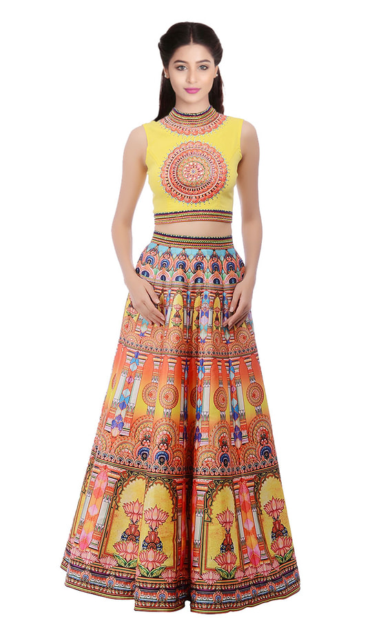 """New Yellow Digital Printed Lahenga Choli@1850/- Click On:https://goo.gl/zM9wY8 Order On Whatsapp on +91-7285880242 Mail Us On :- info@khantil.in Product Code :-17590""  #designer #ethnic #fashion #new-style #2017 #beauty #lenghacholi"