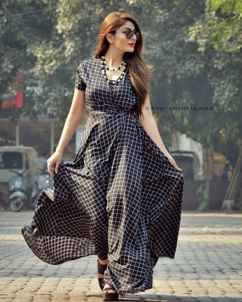 Loving my black & white plaid maxi dress from Missamore ❤️  #ootd #roposolove #roposodaily #ankitamehraarora #fashionblogger #delhiblogger #designer #bridal #anarkali #sharara #traditional #saree #sari #jewellery #stylist #hair #stylish #fashionstyle #online #happy #bloggerstyle #beautiful #mumbai #soroposo #potd #travel #hot #cute #photooftheday #celebrity #instagood #picoftheday #bloggerlife #dress #india #makeup #lehenga #fashionblogger #sexy #wedding #roposogal #follow #followme #instafashion #clothes #boots #gown #2017ready