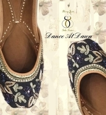 """Presenting """"Dance At Dawn"""" -The ideal jutti for this year's wedding functions. Be the cynosure of any Mehndi/Sangeet function with this gorgeous pair 👠👄 . DM/WATSAPP +91-98884-72794 for details! Shipping worldwide ✈️#juttis #jootis  #khusaas #designerjuttis #flats #mojris #indianwedding #bridal #ghungroo #swarovski #wedding #jutti #punjabijuttis #khussa #joothi  #bride #indian #indianbride #pakistani #blingjutti #blingjuttibysolesister #dubai #2017 #bollywood #fashion #indianbride #picoftheday #instagram #ghunghroojuttis #designerjuttis #bridalshoes"""